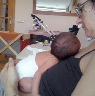 Julia madre de Mario, bebé prematuro tardío.
